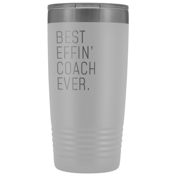 Personalized Coach Gift: Best Effin Coach Ever. Insulated Tumbler 20oz $29.99 | White Tumblers
