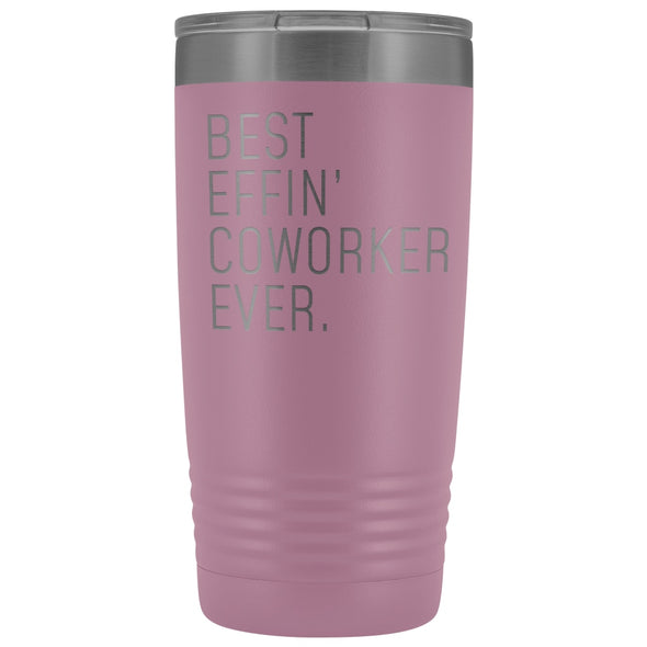 Personalized Coworker Gift: Best Effin Coworker Ever. Insulated Tumbler 20oz $29.99 | Light Purple Tumblers