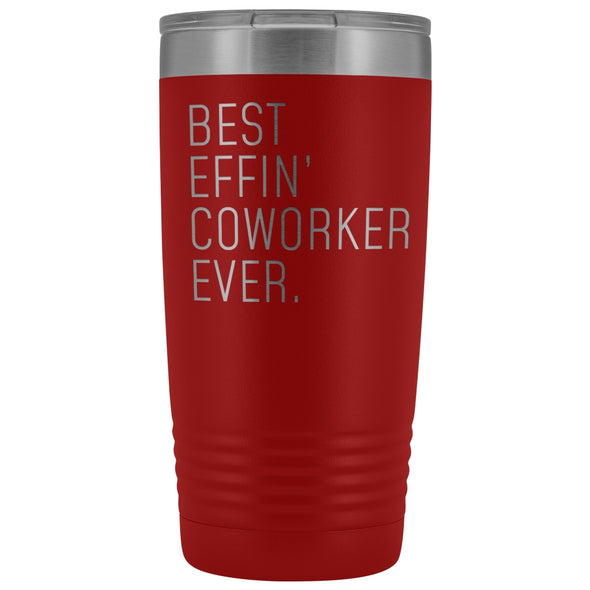 Personalized Coworker Gift: Best Effin Coworker Ever. Insulated Tumbler 20oz $29.99 | Red Tumblers