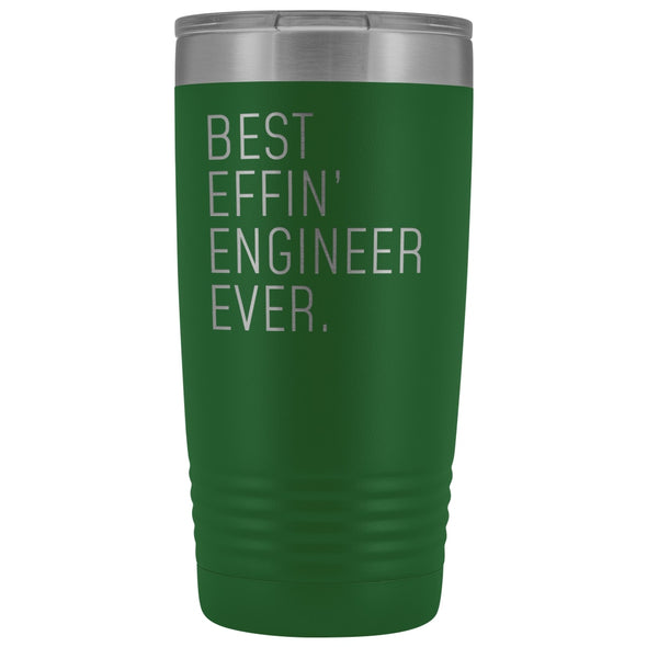 Personalized Engineer Gift: Best Effin Engineer Ever. Insulated Tumbler 20oz $29.99 | Green Tumblers