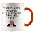 Personalized Funny Boyfriend Gifts Donald Trump Parody Gag Gifts for Boyfriend Coffee Mug