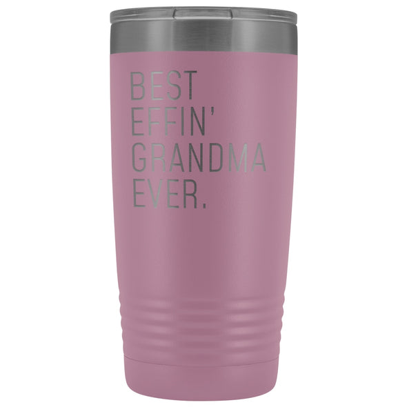 Personalized Grandma Gift: Best Effin Grandma Ever. Insulated Tumbler 20oz $29.99 | Light Purple Tumblers