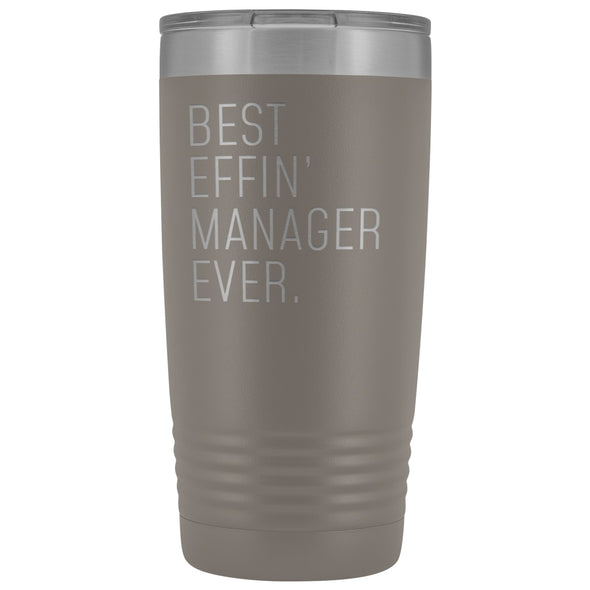 Personalized Manager Gift: Best Effin Manager Ever. Insulated Tumbler 20oz $29.99 | Pewter Tumblers