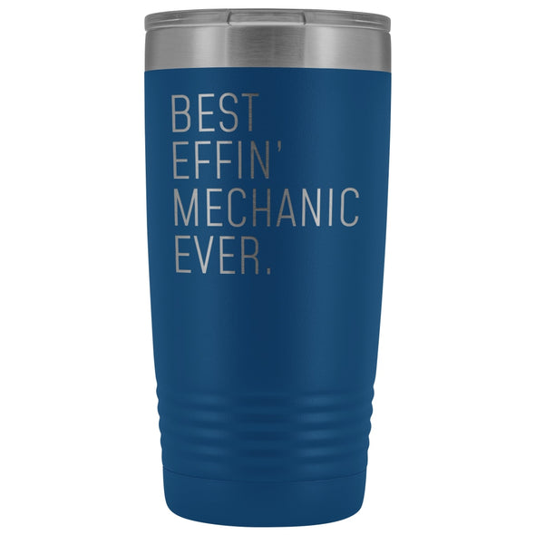 Personalized Mechanic Gift: Best Effin Mechanic Ever. Insulated Tumbler 20oz $29.99 | Blue Tumblers