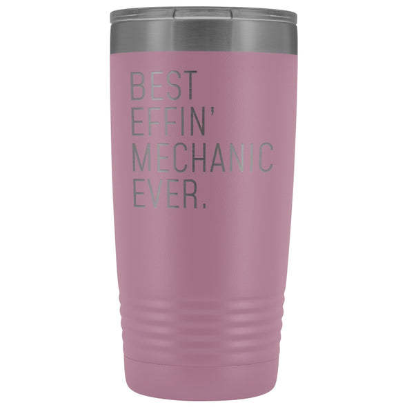 Personalized Mechanic Gift: Best Effin Mechanic Ever. Insulated Tumbler 20oz $29.99 | Light Purple Tumblers