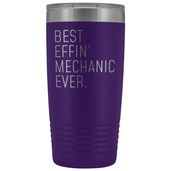 Personalized Mechanic Gift: Best Effin Mechanic Ever. Insulated Tumbler 20oz $29.99 | Purple Tumblers
