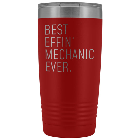 Personalized Mechanic Gift: Best Effin Mechanic Ever. Insulated Tumbler 20oz $29.99 | Red Tumblers