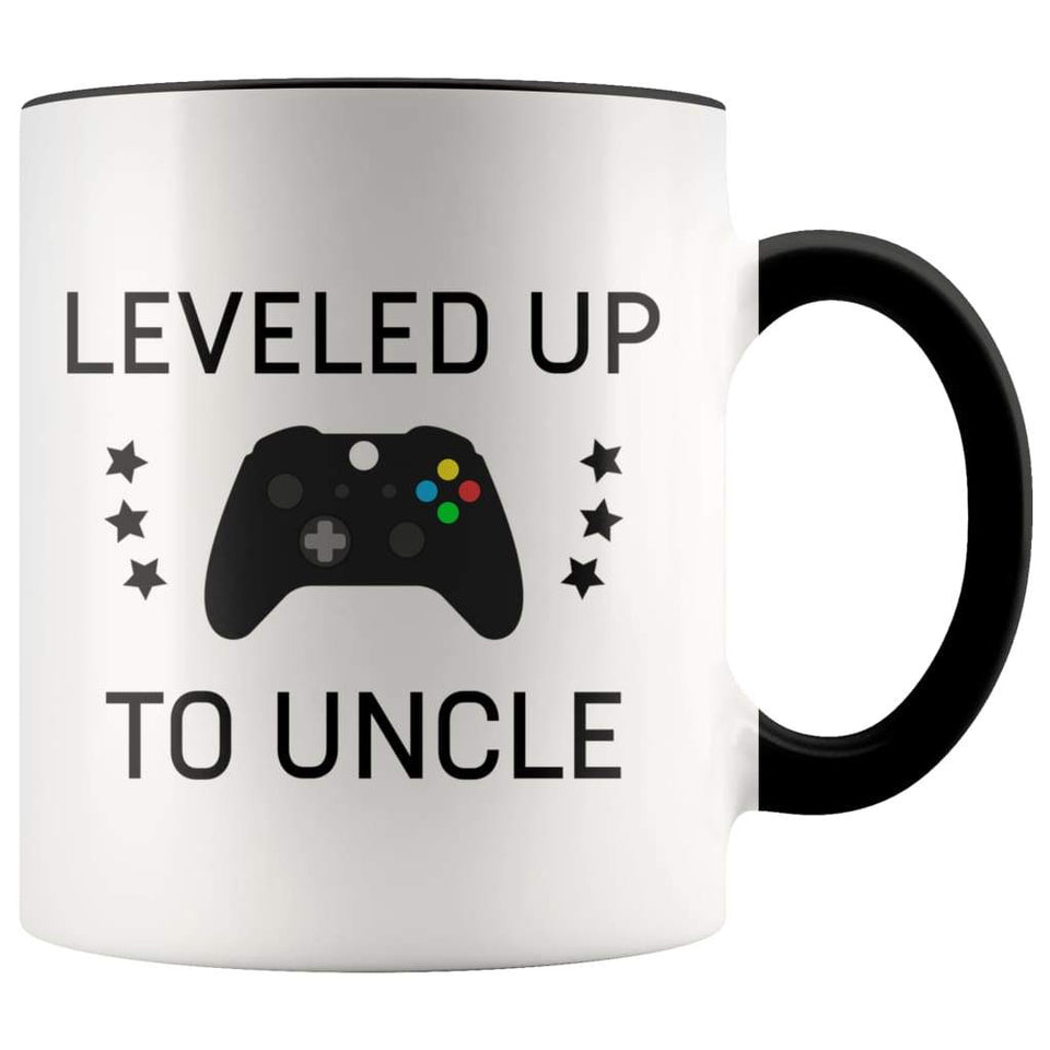 Personalized New Uncle Gift: Leveled Up To Uncle Coffee Mug