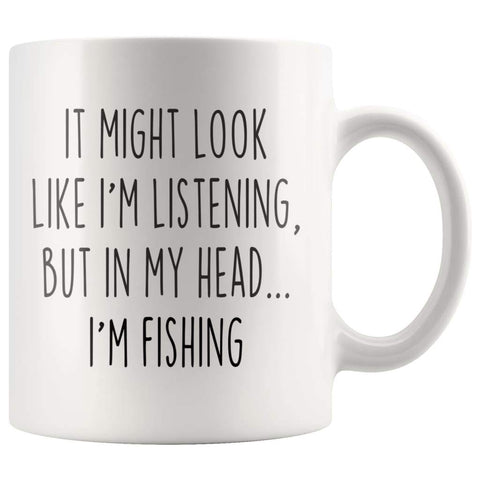 Sarcastic Fishing Coffee Mug | Funny Gift for Fisherman $14.99 | 11oz Mug Drinkware