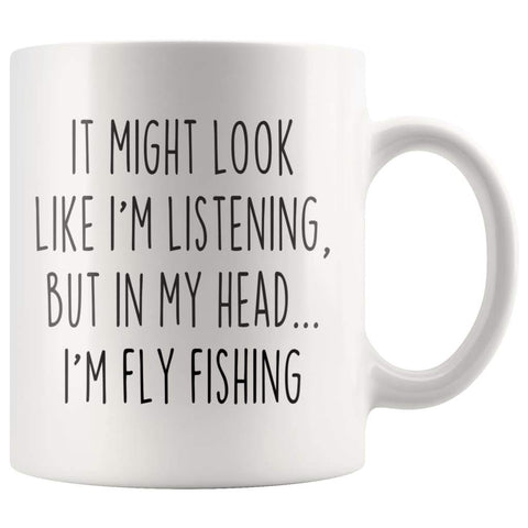 Sarcastic Fly Fishing Coffee Mug | Funny Gift for Fly Fisherman $14.99 | 11oz Mug Drinkware