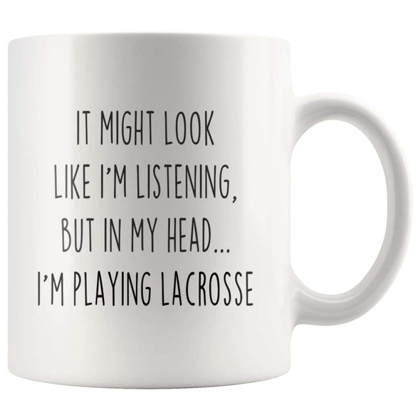 Sarcastic Lacrosse Coffee Mug | Funny Gift for Lacrosse Player $13.99 | 11oz Mug Drinkware
