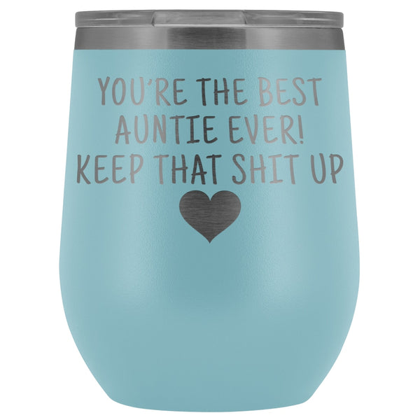 Unique Aunt Gifts Best Auntie Ever Insulated Wine Tumbler 12oz