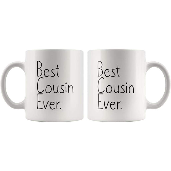 Unique Cousin Gift: Best Cousin Ever Mug Christmas Gift Birthday Gift Cousin Men Women Coffee Mug Tea Cup White $14.99 | Drinkware
