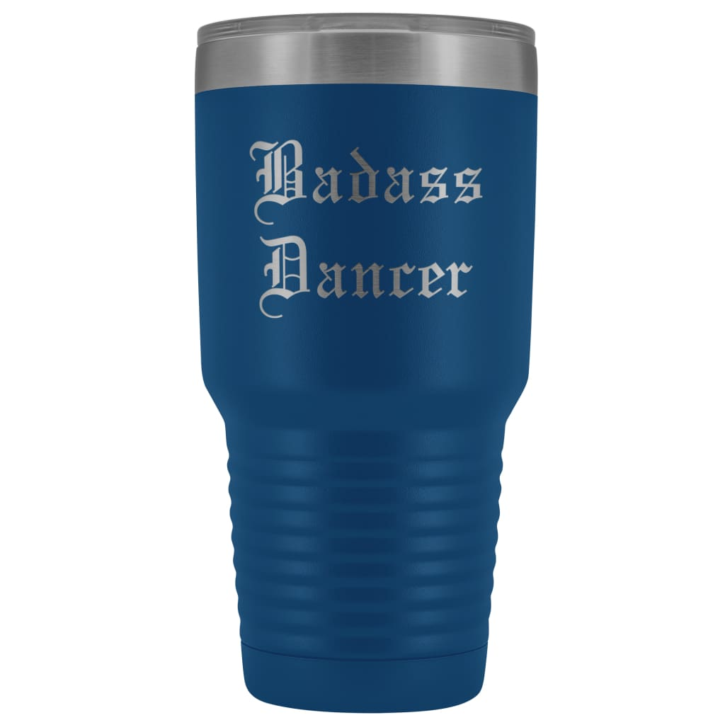 Unique Dancer Gift: Personalized ''Badass Dancer'' Graduation Ballet Gift for Teacher Male Old English Insulated Tumbler 30 oz
