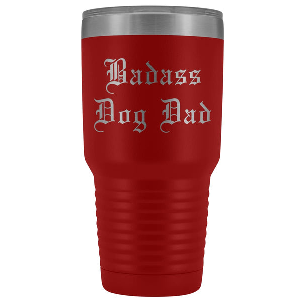 Unique Dog Dad Gift: Old English Badass Dog Dad Insulated Tumbler 30 oz
