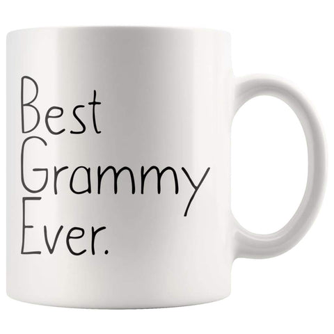 Unique Grammy Gift: Best Grammy Ever Mug Mothers Day Gift Birthday Gift Christmas Gift New Grammy Gift Coffee Mug Tea Cup White $14.99 | 11