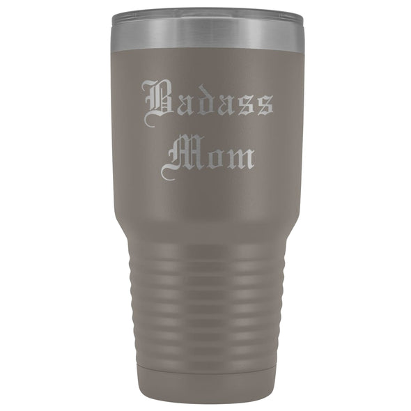 Unique Mom Gift: Old English Badass Mom Birthday Christmas Insulated Tumbler 30oz $38.95 | Pewter Tumblers