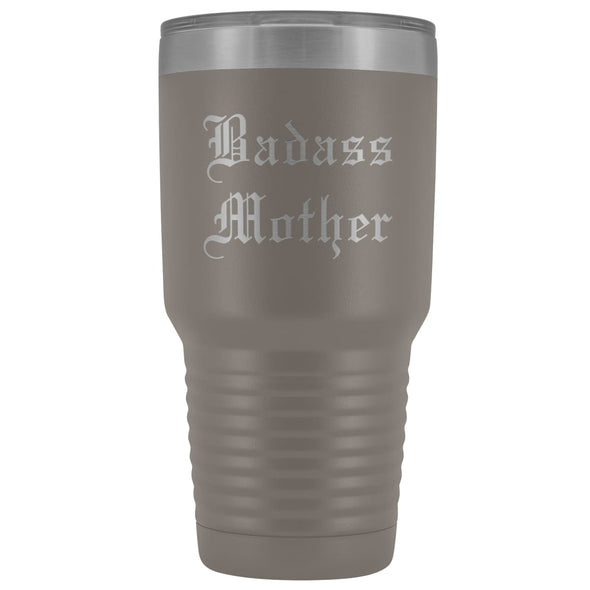Unique Mother Gift: Old English Badass Mother Birthday Baby Shower Insulated Tumbler 30 oz $38.95 | Pewter Tumblers