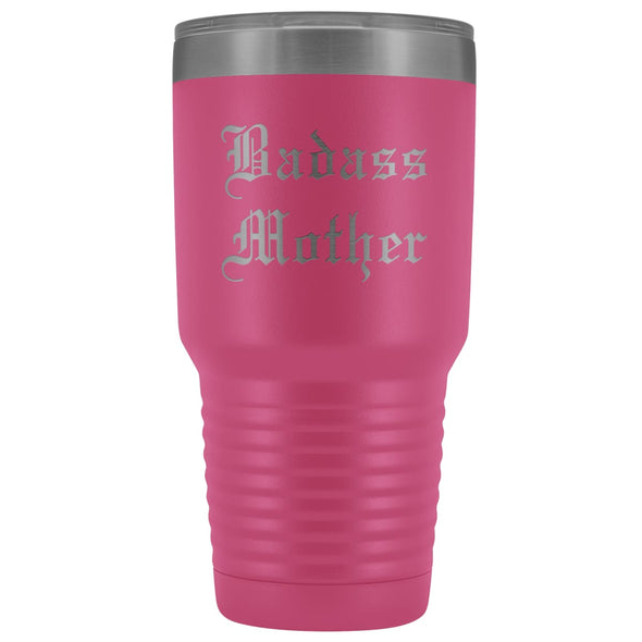 Unique Mother Gift: Old English Badass Mother Birthday Baby Shower Insulated Tumbler 30 oz $38.95 | Pink Tumblers