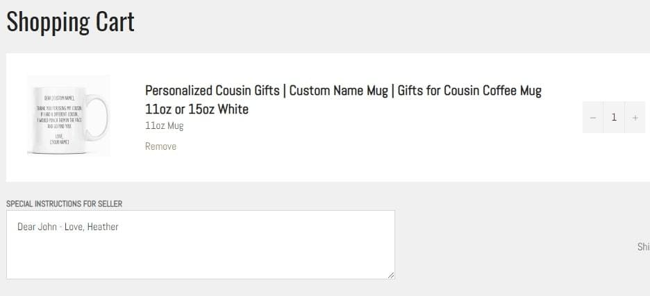 Customized Mug Instructions