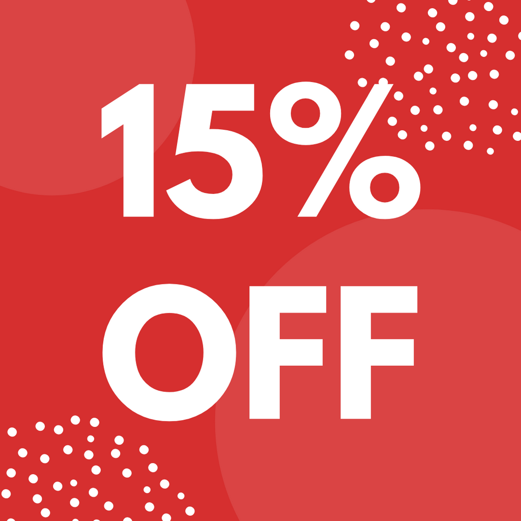 Click Here for 15% Off Sale!