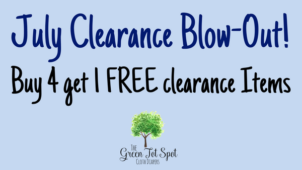 cloth diapers clearance sale banner buy 4 get 1 free