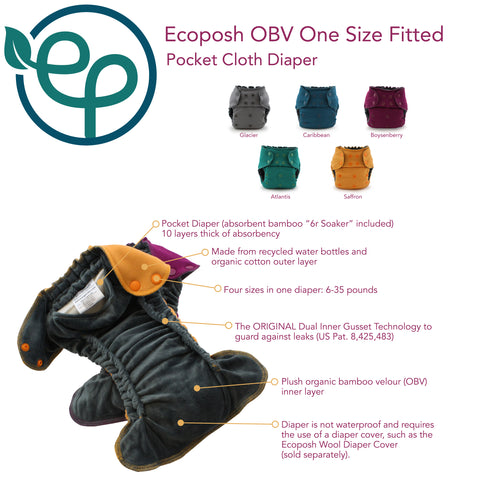Rumparooz Eco Posh OBV Fitted _ The Green Tot Spot Cloth Diapers
