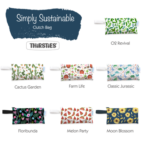 thirsties clutch wet bags print selection