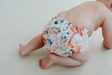 bare and boho cloth diaper fauna print image