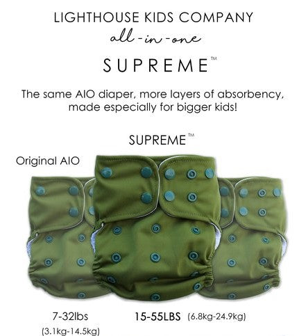 lighthouse kids supreme cloth diaper diagram - inside