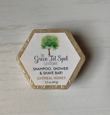 Shampoo, Shower & Shave Bar - Oatmeal Honey