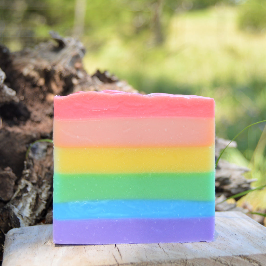 Sheepish Grins Goat Milk Soap - Rainbow