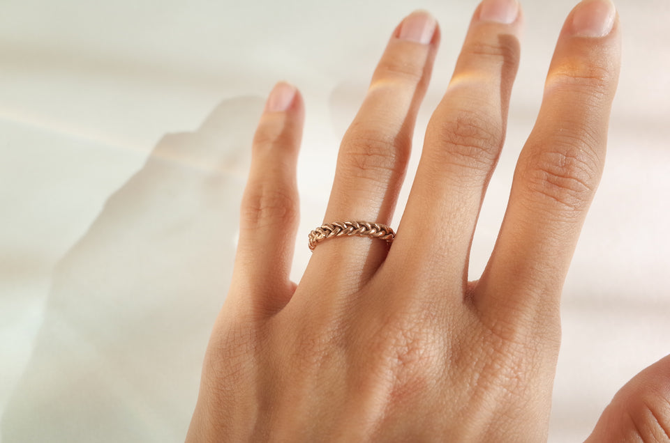 Rose Gold Braided Band
