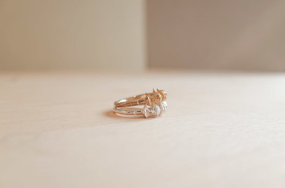 Embankment Ring in Bronze or Silver
