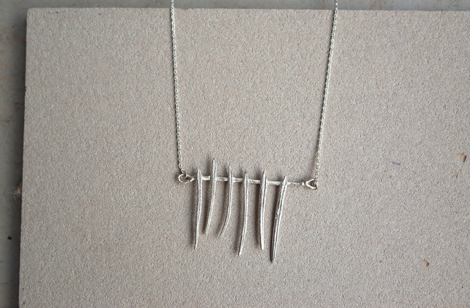 Carillon Necklace in Bronze or Silver