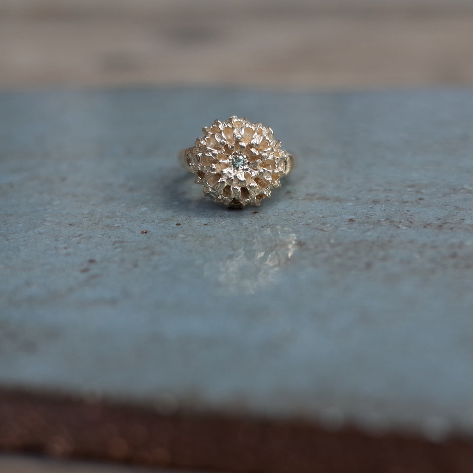 Jewelled Gold Nest Ring
