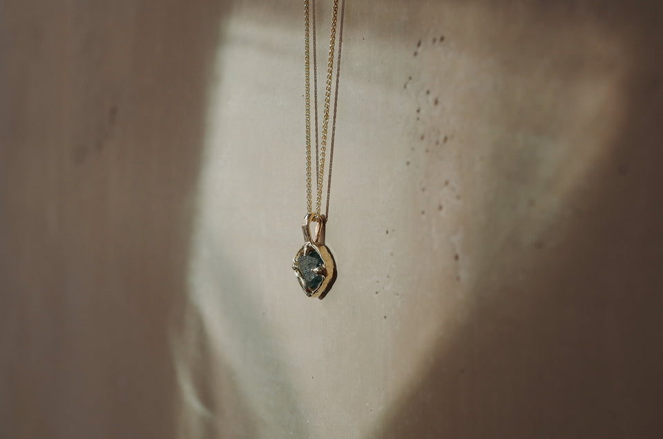 Floating Rough Sapphire Necklace