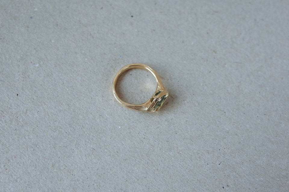 Floating Rough Sapphire Ring