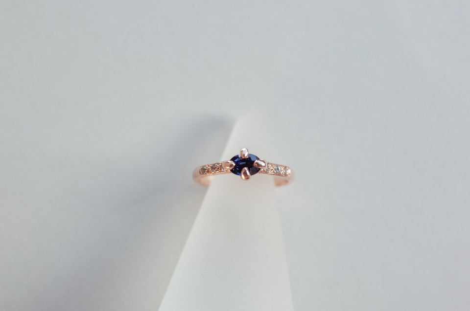 Oval Four Claw Engagement Ring