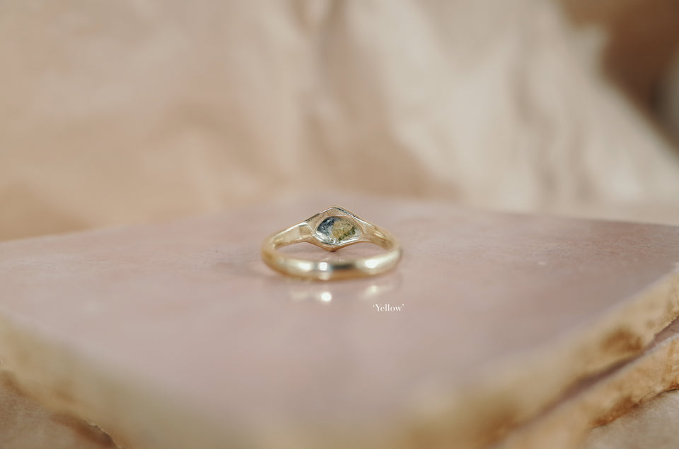 Rough Sapphire Signet Rings