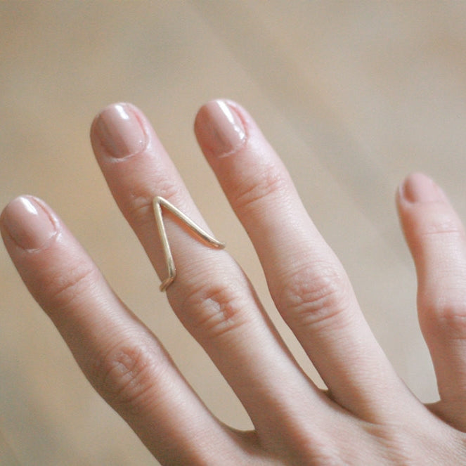 The Mountain Ring in Bronze or Silver
