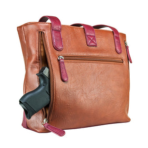 Concealed Carry Shoulder Bag Purse