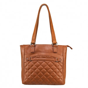Concealed Carry Quilted Tote Purse