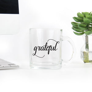 Grateful Coffee - Clear Mug
