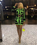 Green Bandage Coat Dress