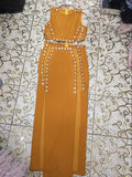 Long Cotton Beaded Dress