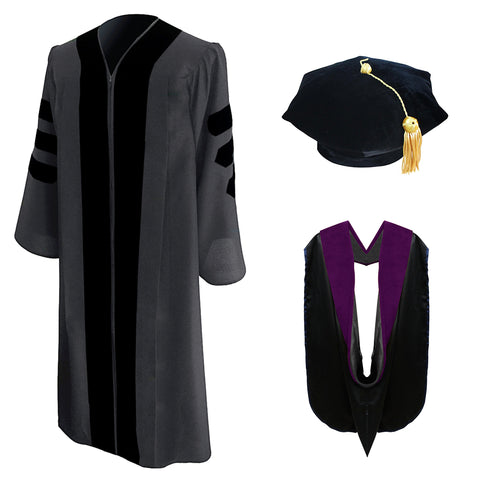 Classic Doctoral Graduation Tam, Gown & Hood Package - Drexel University