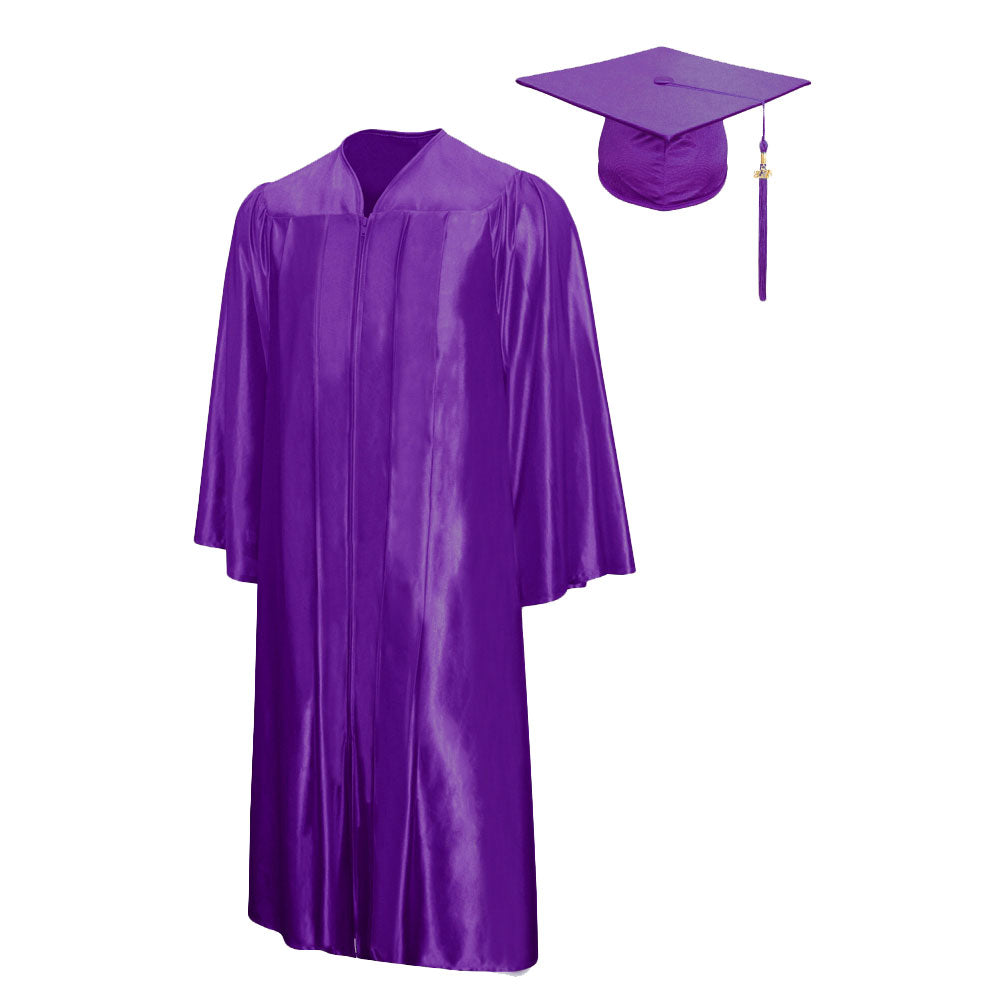 Shiny Graduation Cap & Gown Package