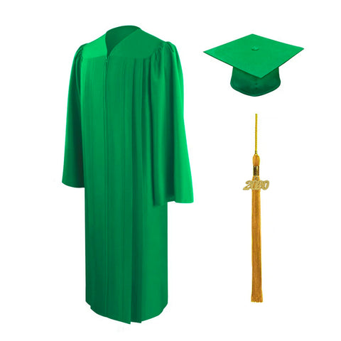 2020 Oswego Matte Green Cap, Gown & Tassel Package