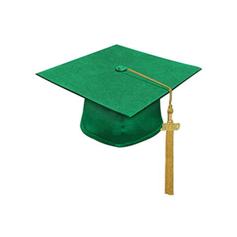 2021 Oswego Matte Green Cap & Tassel Package